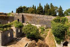 Παλαιό μεσαιωνικό φρούριο αποκαλούμενο Spagnola σε Herceg Novi, Mon Στοκ φωτογραφία με δικαίωμα ελεύθερης χρήσης