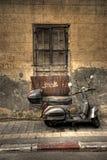 παλαιό μηχανικό δίκυκλο Στοκ Εικόνες