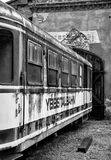 Παλαιό μνημείο σιδηροδρόμων τραίνων μεταφορών Στοκ εικόνα με δικαίωμα ελεύθερης χρήσης