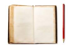 παλαιό μολύβι βιβλίων Στοκ Εικόνα