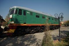 Παλαιό μουσείο Ουζμπεκιστάν εφαρμοσμένης μηχανικής μουσείων σιδηροδρόμων της Τασκένδης diesel κινητήριο στοκ φωτογραφίες με δικαίωμα ελεύθερης χρήσης