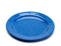 παλαιό μπλε πιάτο κάουμποϋ Στοκ εικόνες με δικαίωμα ελεύθερης χρήσης