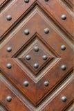 Παλαιό ξύλινο γεωμετρικό orament με τα καρφιά σιδήρου Στοκ φωτογραφίες με δικαίωμα ελεύθερης χρήσης