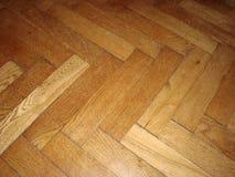 Παλαιό ξύλινο πάτωμα παρκέ Στοκ Φωτογραφίες