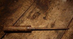 Παλαιό οξυδωμένο εργαλείο στοκ φωτογραφία