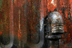 Παλαιό οξυδωμένο χρώμα σιδήρου και αποφλοίωσης στοκ φωτογραφία με δικαίωμα ελεύθερης χρήσης