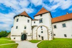 Παλαιό ορόσημο σε Varazdin, Κροατία στοκ εικόνες