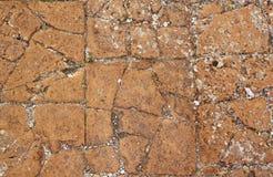 Παλαιό πάτωμα πήλινου είδους Στοκ Φωτογραφίες