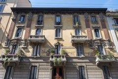 Παλαιό παλάτι μέσα μέσω Castelvetro, Μιλάνο στοκ φωτογραφίες με δικαίωμα ελεύθερης χρήσης