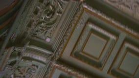 Παλαιό πανόραμα εισόδων σπιτιών πόλεων Fretwork ανώτατο όριο, εκλεκτής ποιότητας πόρτες 19ος αιώνας Η Αγία Πετρούπολη απόθεμα βίντεο