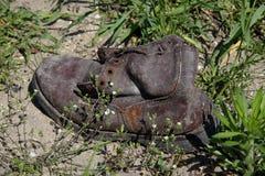 παλαιό παπούτσι Στοκ Φωτογραφίες