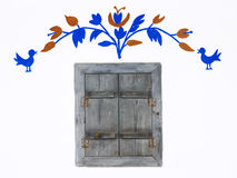 παλαιό παράθυρο καλυβών χ Στοκ Εικόνες