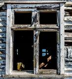 παλαιό παράθυρο πλαισίων Στοκ Εικόνα