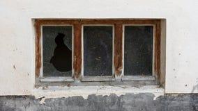 Παλαιό παράθυρο σε ένα παλαιό κτήριο Στοκ Φωτογραφία