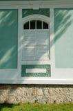 παλαιό παράθυρο σπιτιών Στοκ Εικόνες