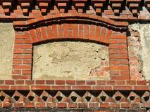 Παλαιό παράθυρο τοίχων σπιτιών Στοκ Φωτογραφία