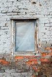 παλαιό παράθυρο τοίχων τού& Στοκ Φωτογραφία