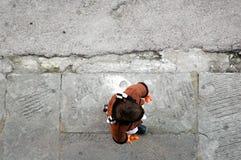 παλαιό πεζοδρόμιο Στοκ Εικόνες