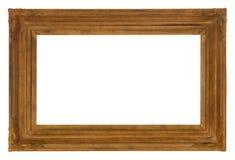 Παλαιό περίκομψο ξύλινο πλαίσιο για τις φωτογραφίες και την τέχνη στοκ εικόνα με δικαίωμα ελεύθερης χρήσης