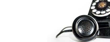Παλαιό περιστροφικό έμβλημα τηλεφωνικών κασκών πινάκων Στοκ Φωτογραφίες