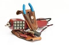 παλαιό πιό plier τηλέφωνο πιστο&l Στοκ εικόνα με δικαίωμα ελεύθερης χρήσης