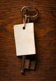 Παλαιό πλήκτρο με την ετικέτα Στοκ φωτογραφία με δικαίωμα ελεύθερης χρήσης