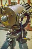 Παλαιό πυροβόλο όπλο Gatling, μια από την πιό γνωστή πρόωρη γρήγορος-πυρκαγιά συμπιεζόμενη δί ελατηρίου Το πυροβόλο όπλο Gatling  Στοκ εικόνες με δικαίωμα ελεύθερης χρήσης