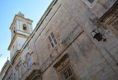 Παλαιό πόλης κτήριο σε Mdina, Μάλτα στοκ εικόνες