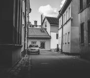 Παλαιό πόλης προαστιακό περιβάλλον Στοκ εικόνες με δικαίωμα ελεύθερης χρήσης