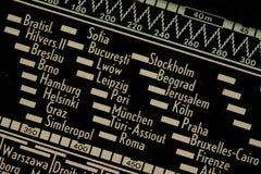 παλαιό ραδιόφωνο λεπτομέ&rho Στοκ Εικόνες