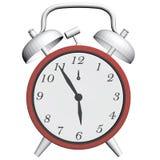 Παλαιό ρολόι με το ξυπνητήρι απεικόνιση αποθεμάτων