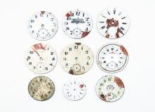 παλαιό ρολόι προσώπων συλλογής στοκ φωτογραφία με δικαίωμα ελεύθερης χρήσης