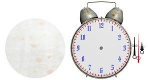 Παλαιό ρολόι συναγερμών που απομονώνεται Στοκ Εικόνα