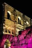 παλαιό ρωμαϊκό θέατρο νύχτα&sigma Στοκ Εικόνες