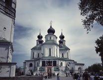 παλαιό ρωσικό χωριό του Τομσκ kolarovo εκκλησιών περιοχής στοκ εικόνες