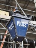 Παλαιό σημάδι αστυνομίας Στοκ Φωτογραφίες