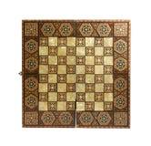 παλαιό σκάκι χαρτονιών στοκ φωτογραφία