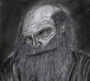 Παλαιό σκίτσο ατόμων στοκ εικόνες