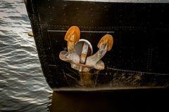 Παλαιό σκουριασμένο άνοιγμα αγκύρων σκαφών Στοκ Εικόνα