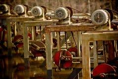 Παλαιό & σκουριασμένο μέρος μηχανών στοκ εικόνες