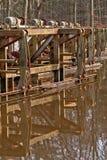 Παλαιό & σκουριασμένο μέρος μηχανών στοκ φωτογραφία