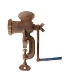 Παλαιό σκουριασμένο μηχανή κοπής κιμά στοκ εικόνα με δικαίωμα ελεύθερης χρήσης