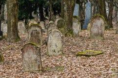 παλαιό σοβαρό εβραϊκό νεκροταφείο πετρών Στοκ φωτογραφία με δικαίωμα ελεύθερης χρήσης