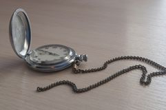Παλαιό σοβιετικό ρολόι τσεπών στοκ εικόνα