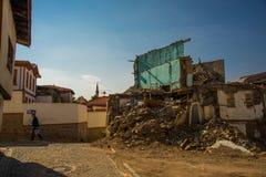 Παλαιό σπίτι στην οδό Άγκυρα, Τουρκία στοκ εικόνες με δικαίωμα ελεύθερης χρήσης