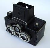παλαιό στερεοφωνικό συγκρότημα φωτογραφικών μηχανών Στοκ φωτογραφία με δικαίωμα ελεύθερης χρήσης