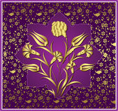 παλαιό σχέδιο χρυσός Οθωμανός Στοκ Εικόνες