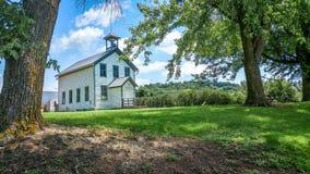 Παλαιό σχολείο Millville στο Ουισκόνσιν στοκ φωτογραφία