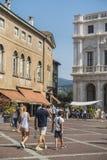 Παλαιό τετράγωνο του Μπέργκαμο, Λομβαρδία, Ιταλία Στοκ Εικόνες