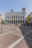 Παλαιό τετράγωνο του Μπέργκαμο, Λομβαρδία, Ιταλία Στοκ εικόνες με δικαίωμα ελεύθερης χρήσης